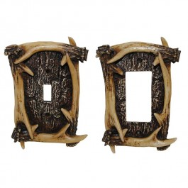 Rustic Antler Switch Plates
