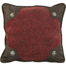 Red Chenille Scalloped Pillow