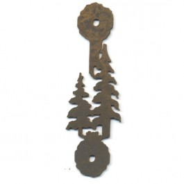 Set of 6 Pine Tree Vertical Handle-Rust - CLEARANCE