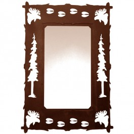 Wildlife Moose and Tracks Mirror