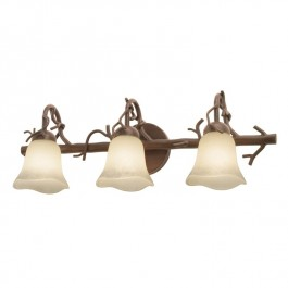 Rustic Vine Triple Vanity Light