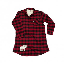 Moose Plaid Nightshirt