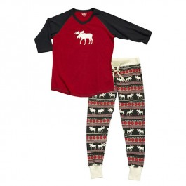 Moose Fair Isle Leggings and Tee