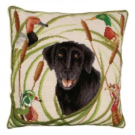 Sporting Black Lab Pillow