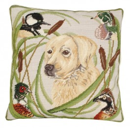Sporting Yellow Lab Pillow