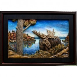 Majestic Moose Original and Signed Carving 27 x 39