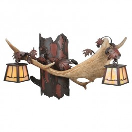 Fallow Deer Antler Double Wall Sconce