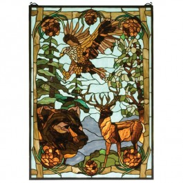 Wilderness Stained Glass Window