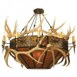 Elk Antler Inverted Pendant Light