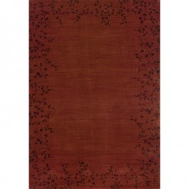 Claret Tiny Branches Area Rugs