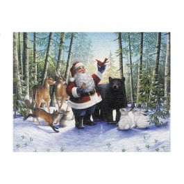 Santa In The Forest  Wall Hanging