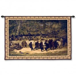 Bear Dance Wall Tapestry