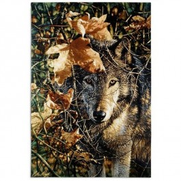 Autumn Eyes Wolf Wall Hanging