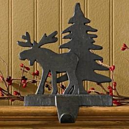 Moose and Tree Stocking Holder