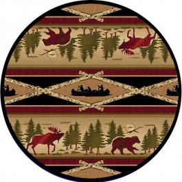 Aspen Wilderness Round Rug