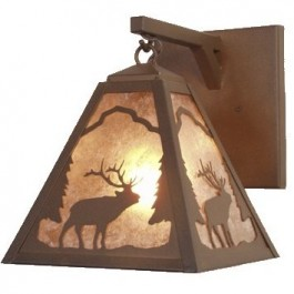 Timber Ridge Elk Hanging Sconce