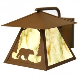 Timber Ridge Outdoor Bear Sconce with Roof