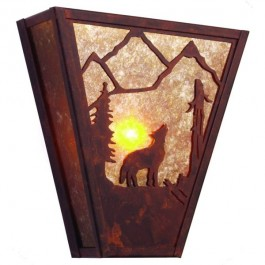 Bark at the Moon Wolf Sconce