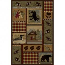 Bear Cabin Area Rugs