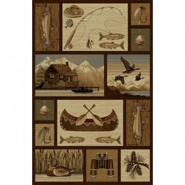 Cabin and Canoe Area Rugs