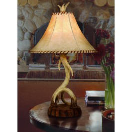 Lodge Antler Table Lamp