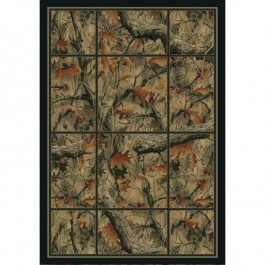 Camouflage Grid Area Rugs