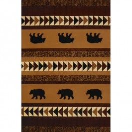 Woodcut Bear Area Rug