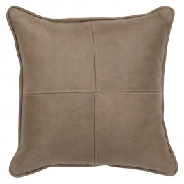 Silver Fox Leather Pillow