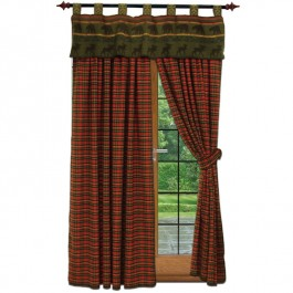 River Plaid Drapes and McWoods Valance