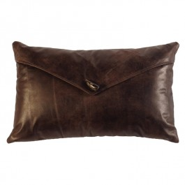 Timber Envelope Leather Pillow
