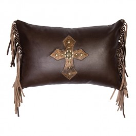 Mesa Cross Leather Pillow