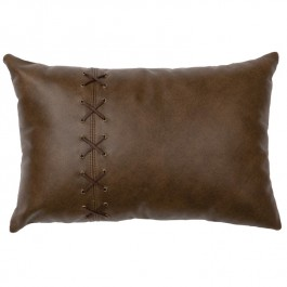 Caribou Leather Cross Stitch Pillow