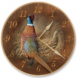 Late Season Pheasant Wall Clock