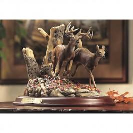 Autumn Run-Whitetail Deer Sculpture -DISCONTINUED