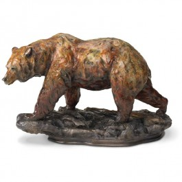 One Step Grizzly Bear Sculpture