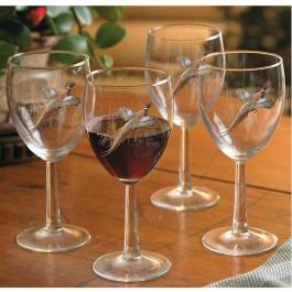 Pheasant Wine Glasses - Set of 12