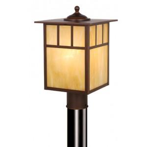 Mission 9″ Outdoor Post Light Burnished Bronze