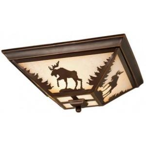 Yellowstone Moose Flush Mount Ceiling Light