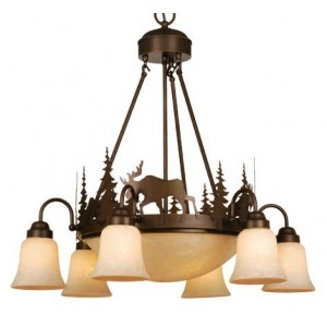 Yellowstone Moose Pendant with 6 Lights