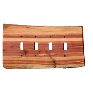 Custom Rustic Wooden Quad Toggle Plate