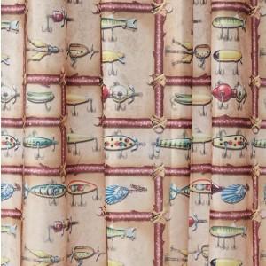 Antique Lure Shower Curtain