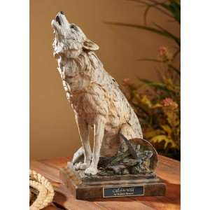 Call of the Wild – Howling Wolf Sculpture