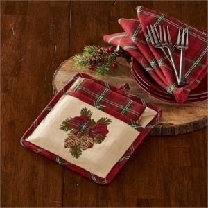 Highland Holiday Pocket Potholder Set