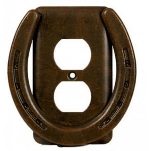 Horse Shoe- Heavy Metal Switch Plates