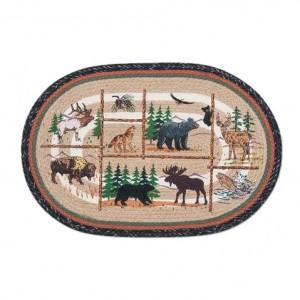 Lodge Animals Jute Rug 20 x 30