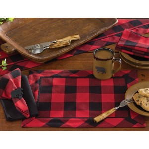 Buffalo Check Place Mats and Table Linens