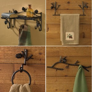 Pinecone Lodge Towel Bars and Bath Accessories