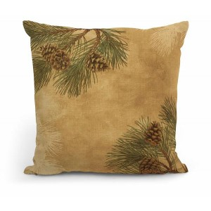 """Pinecones 18"""" Decorative Pillow"""