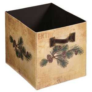 Fruits of the Red Pine – Pinecones Folding Storage Bin
