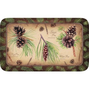 Pinecones Memory Foam Bath Rug